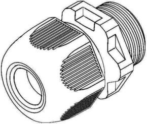 HKL Kabelverschraubung gr,D=8-13mm 350M20