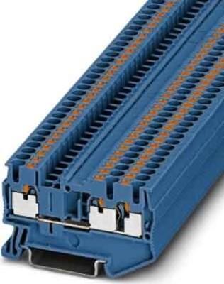 Phoenix Contact Durchgangsreihenklemme 0,14-4qmm, 5,2mm, bl PT 2,5-TWIN BU