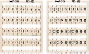WAGO Kontakttechnik WMB-Bezeichnungssystem W: 31-40 (10x) 793-505