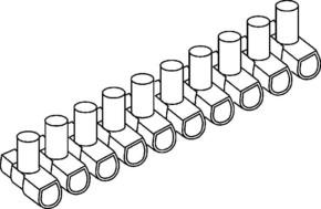 HKL Verbindungsklemme 10p, 2,5qmm B25