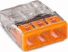 WAGO Kontakttechnik Verbindungsdosenklemme 3x 0.5-2.5 orange 2273-203