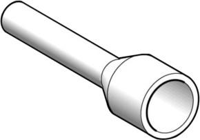 Schneider Electric Aderendhülse 1,5mmq,Kragen schwarz DZ5CE015