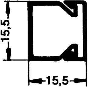 Rehau Elektro.Inst. LE Kanalunter/-oberteil 15/15 lichtgrau LE 150150 lgr