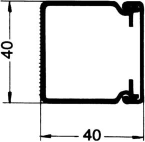 Rehau Elektro.Inst. LE Kanalunter/-oberteil 40/40 lichtgrau LE 400400 lgr