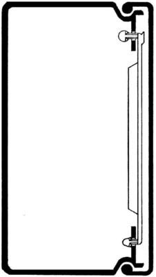 Rehau Elektro.Inst. LE Kanalunter/-oberteil 60/110 lichtgrau LE 601100 lgr