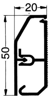Rehau Elektro.Inst. SL Kanal 20/50 reinweiß SL 200500 rws