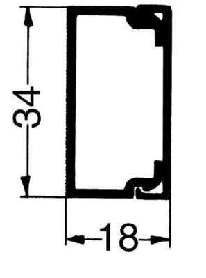 Rehau Elektro.Inst. LE Kanalunter/-oberteil 20/35 sgr LE 200350 sgr