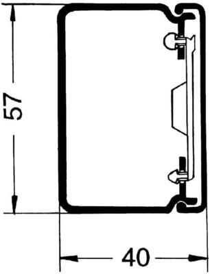 Rehau Elektro.Inst. LE Kanalunter/-oberteil 40/60 cws LE 400600 cws
