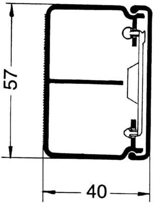 Rehau Elektro.Inst. LE Kanalunter/-oberteil 40/60TW cws LE 400600TW cws