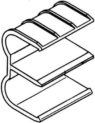 Rehau Elektro.Inst. RAUDUO Heizungsrohrträger 40/105 nat DUO Heizrohrträger