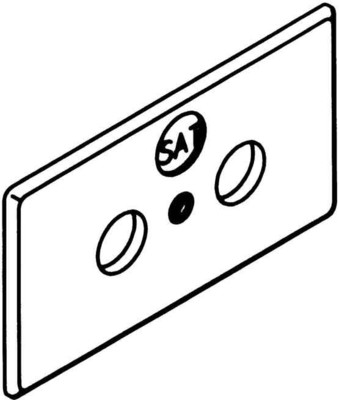 Rehau Elektro.Inst. RAUDUO Blende 40/105 reinweiß SL BlendeAntenne rws