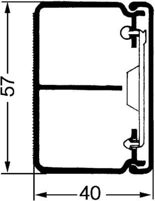 Rehau Elektro.Inst. LE Kanalunter/-oberteil 40/60TW reinweiß LE 400600TW rws