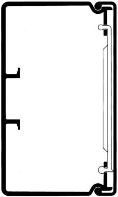 Rehau Elektro.Inst. LEH Kanalunter/-oberteil 30/45 reinweiß LEH 300450 rws