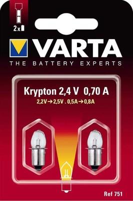 Varta Cons.Varta Kryptonlampe 2,4V 751 Bli.2